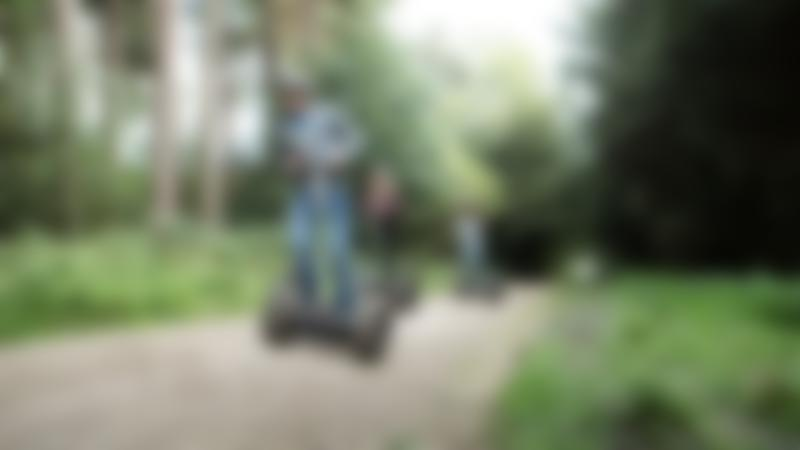 People racing on segways at Go Ape Delamere in Northwich