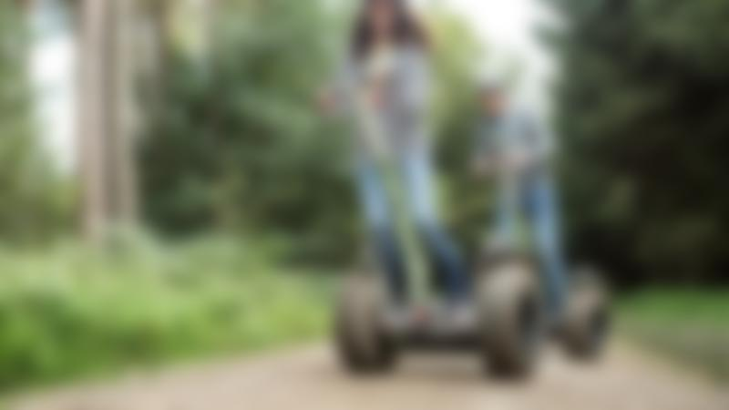 People on segways at Go Ape Dalby in Pickering