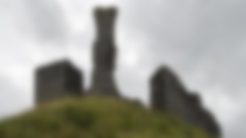 Ruins at Okehampton Castle