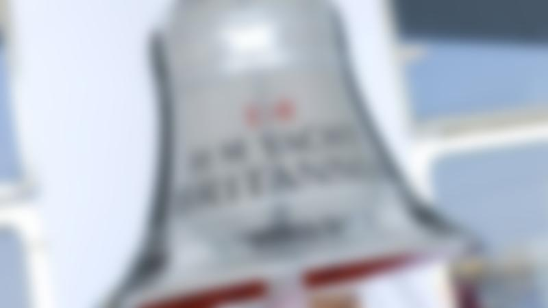 Silver bell at The Royal Yacht Britannia in Edinburgh