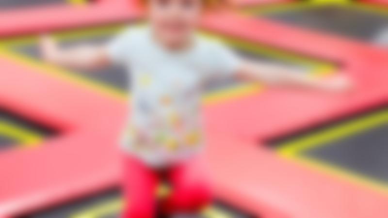 A little girl jumping at RedKangeroo