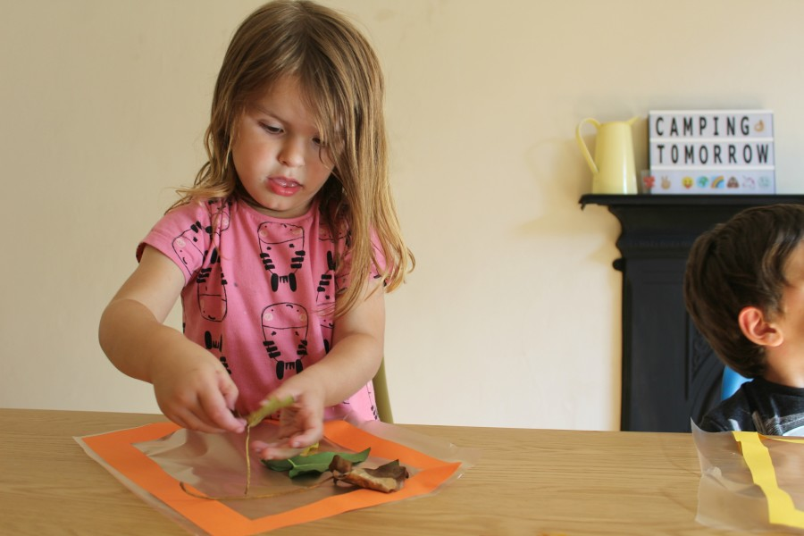 How to make an autumn suncatcher   Day Out With The Kids